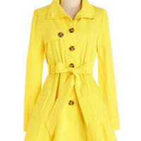 Jack by BB Dakota Nautical Long Long Sleeve Just Called to Say Hyannis Coat in Yellow