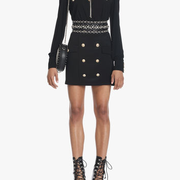 Viscose mini-dress | Women's jersey dresses | Balmain