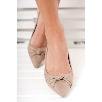 Loraine Knotted Heels (Taupe)