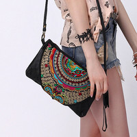 Black Boho Purse - Embi Bags