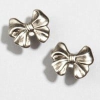 metallic Brittany bow earrings