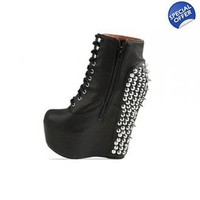 Rivet Wedge Ankle Boot