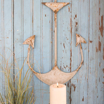 Metal Anchor Wall Candle Holder