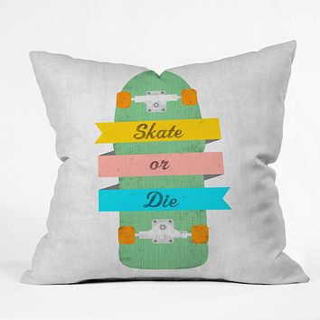 Nick Nelson Skate Or Die Throw Pillow
