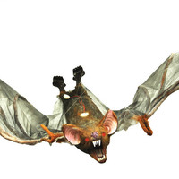 halloween decorations: bat with light-up eyes 54""