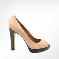 Marc by Marc Jacobs Impex PA - Blush Patent Leather Pumps | FORZIERI