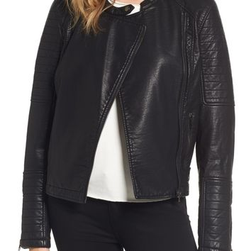 cupcakes and cashmere Ezmerelda Faux Leather Moto Jacket | Nordstrom