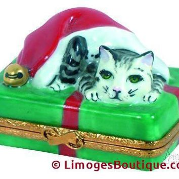Santa Cat Limoges Boxes