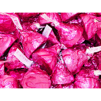 Hershey's Kisses Pink Foiled Milk Chocolates with Caramel Filling: 60-