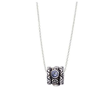 September Iolite Sterling Silver Bead Necklace