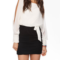 Contrast Dolman Dress