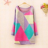 Mixed Color Geometric Cube Swearer 1