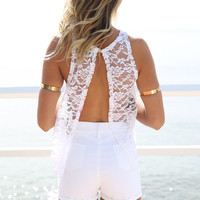 Shanti Lace Top - White | SABO SKIRT