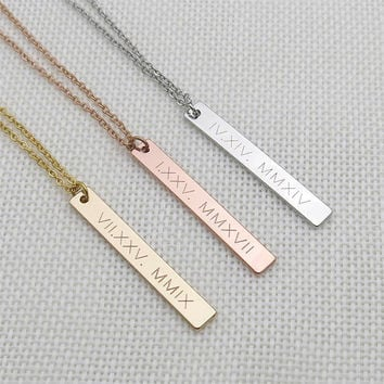 coin e disk tag wedding personalized bridal necklace gift date project charm mrs initial shower shop il