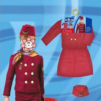 Girl Formal Stewardess Uniform Police Cosplay Costume Halloween Dress Party Stage Performance Props