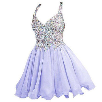 2016 Short Mini Homecoming Dress Evening Prom Party Cocktail Bridesmaid Dresses