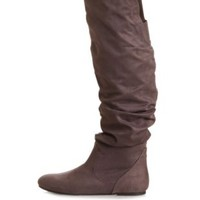 Slouchy Flat Over-the-Knee Boots by Charlotte Russe