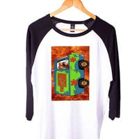 Scooby Doo Short Sleeve Raglan - White Red - White Blue - White Black XS, S, M, L, XL, AND 2XL*AD*