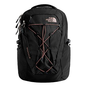 Women's Borealis Backpack in TNF Black & Misty Rose by The North Face