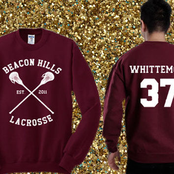 Beacon Hills Lacrosse - Jackson Whittemore 37 Sweater , crewneck sweater available for men and woman unisex adult