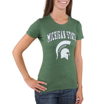 Michigan State Spartans Women's Big Arch Logo T-Shirt – Green
