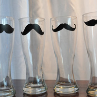 Mustache Glasses Pilsner Beer Mug