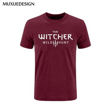 2017 MUXUEDESIGN the witcher wild huntse Mens Men T Shirt T-shirt Fashion Short Sleeve the witcher wild hunt Cotton Tshirt