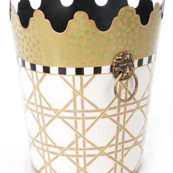 MacKenzie-Childs Lattice Wastebasket