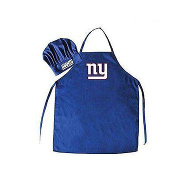 NFL New York Giants Chef Hat and Apron Set