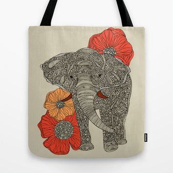 The Elephant Tote Bag by Valentina Harper