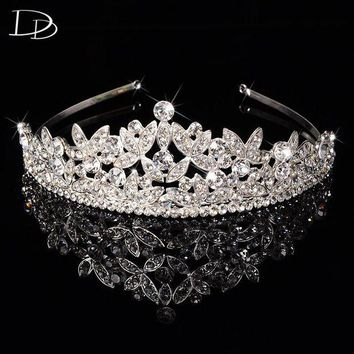 DCCKU62 luxury Austrian crystal tiara jewelry for women bridal diadem princess crown wedding hair accessories tocados para novias HF031