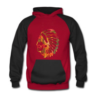 Native American Indian Men's Two-Tone Hoodie - Men's Two-Tone Hoodie