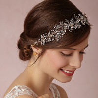 Crystal Accessory Headwear Style Pearls Wedding Dress [10688893319]