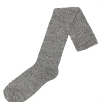Acrylic & Spandex Cable Knit  Socks (Grey Heather)
