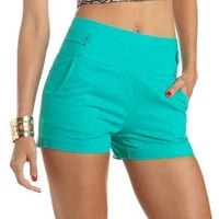 High Waisted Linen Short: Charlotte Russe