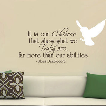 Harry Potter Vinyl Wall Decal It is our by MommyofTyDesigns