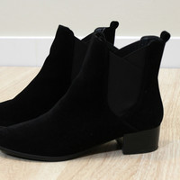 The almond black booties
