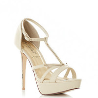 Cream and Gold T-Bar Heels