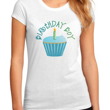 Birthday Boy - Candle Cupcake Juniors Sublimate Tee by TooLoud
