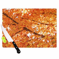 "Sylvia Coomes ""Fall Folioge"" Orange Yellow Cutting Board"