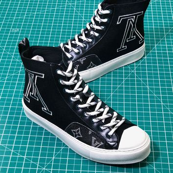 Louis Vuitton Lv Tattoo Sneaker Boot Black Sneakers - Best Online Sale
