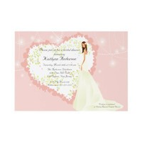 Trendy Bride Bridal Shower Heart Invitation from Zazzle.com