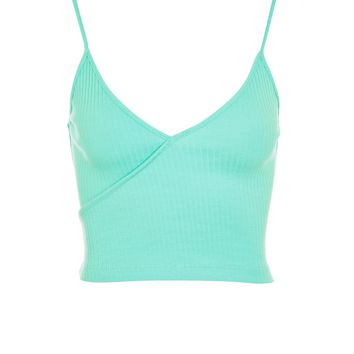 Wrap Front Crop Top | Topshop