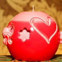 Carved candle. Valentine Day gift. Candle handmade. Gift on Valentine Day. Candle for her. Decorative Candle on Valentine Day. For lovers