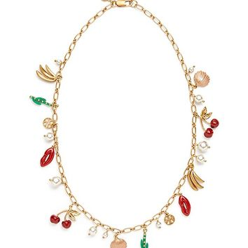 Tory Burch Sylvan Short Rosary Necklace