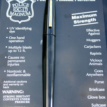 BLACK POLICE MAGNUM MACE PEPPER SPRAY .50oz PEN