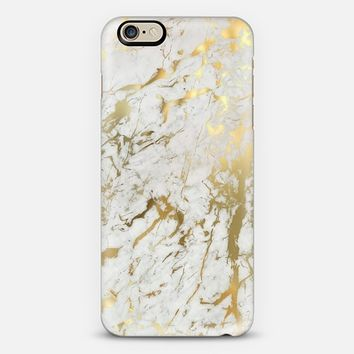 Gold marble iPhone 6 case by Marta Olga Klara | Casetify