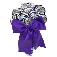 Lollipop Wedding Bouquet (Purple/White)