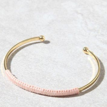 LMFON Me To We Woven Brass Bangle