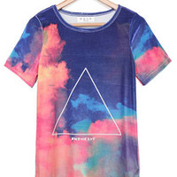 'The Daneen' Gradient Triangle Tie Dye Tee